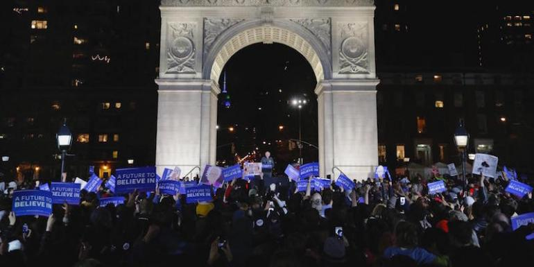 Comizio Bernie Sanders in Washington Square a New York 2016 - Unige