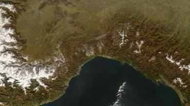 Liguria dal satellite